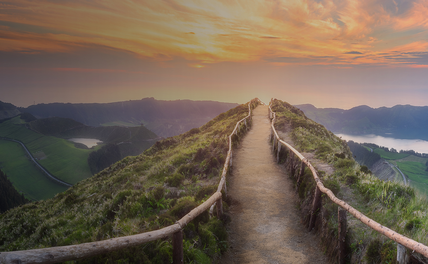 Pathway towards sunrise