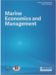 Marine Economics And Management Emerald Publishing