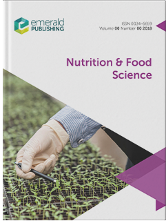 Nutrition Food Science Emerald Publishing